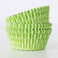 Lime Green Quatrefoil Cupcake Liners