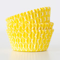 Lemon Yellow Quatrefoil Cupcake Liners