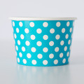 Treat Tubs: Small Blue Raspberry Polka Dot