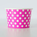 Treat Tubs: Small Raspberry Pink Polka Dot