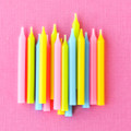 Assorted Plain Candles: Brights