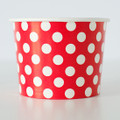 Treat Tubs: Large Cherry Red Polka Dot