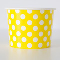 Treat Tubs: Large Lemon Yellow Polka Dot