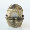 Gold and Silver Chevron Cupcake Liners