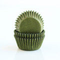 Mini Olive Green Cupcake Liners
