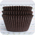500 Dark Chocolate Brown Cupcake Liners