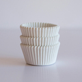 500 Mini Plain White Cupcake Liners