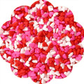 Heart Quins Miniature: Pink, White and Red