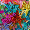 Birthday Script Cupcake Picks