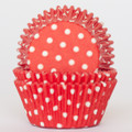 Strawberry Red Polka Dot Cupcake Liners