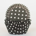 Black Licorice Polka Dot Cupcake Liners