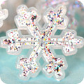 Snowflake Glittery Toppers