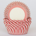 Strawberry Red Carnival Stripe Cupcake Liners