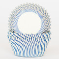 Royal Blue Carnival Stripe Cupcake Liners