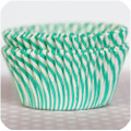 Aqua Carnival Stripe Cupcake Liners