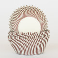 Milk Chocolate Brown Carnival Stripe Cupcake Liners