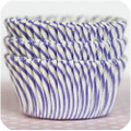 Plum Purple Carnival Stripe Cupcake Liners