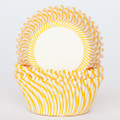 Sunshine Yellow Carnival Stripe Cupcake Liners