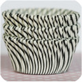 Black Licorice Carnival Stripe Cupcake Liners