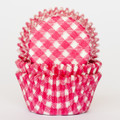 Raspberry Pink Gingham Cupcake Liners
