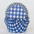 Royal Blue Gingham Cupcake Liners