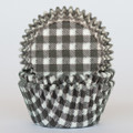 Black Licorice Gingham Cupcake Liners