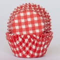 Strawberry Red Gingham Cupcake Liners