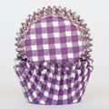 Purple Grape Gingham Cupcake Liners