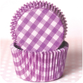 Purple Grape Country Plaid Cupcake Liners