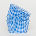 Royal Blue Country Plaid Cupcake Liners