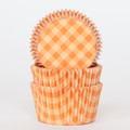 Pumpkin Orange Country Plaid Cupcake Liners