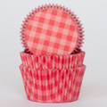 Watermelon Red Country Plaid Cupcake Liners