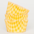 Sunshine Yellow Country Plaid Cupcake Liners