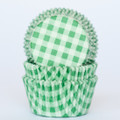 Green Country Plaid Cupcake Liners