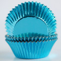 Vintage Blue Foil Cupcake Liners