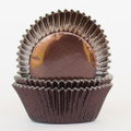 Chocolate Brown Foil Cupcake Liners