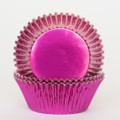 Hot Pink Foil Cupcake Liners