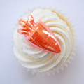 Carrot Iridescent Cupcake Toppers