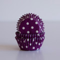 Mini Purple Grape Polka Dot Cupcake Liners