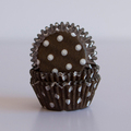 Mini Milk Chocolate Brown Polka Dot Cupcake Liners