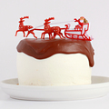 Santa and Sleigh Cake Topper