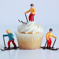 Skiers Cupcake Topper Set
