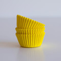 Mini Lemon Yellow Cupcake Liners