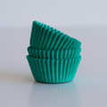 Mini Teal Green Cupcake Liners