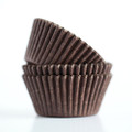 Mini Dark Chocolate Brown Cupcake Liners