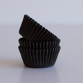 Mini Black Licorice Cupcake Liners