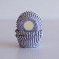 Mini Plum Purple Carnival Stripe Cupcake Liners