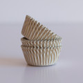 Mini Gold Carnival Stripe Cupcake Liners