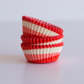 Mini Tomato Red Tilt-a-Whirl Cupcake Liners