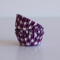Mini Purple Grape Gingham Cupcake Liners